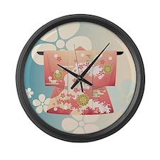 Kimono Large Wall Clock
