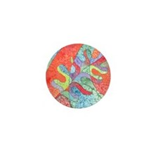Multicolor Oak Leaf Art Mini Button