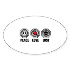 PEACE LOVE LOST Decal