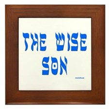 The Wise Son Passover Framed Tile