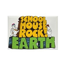 Schoolhouse Rock! Earth Rectangle Magnet