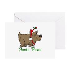 Santa Paws Dog Greeting Card