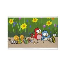 Garden Friends Rectangle Magnet