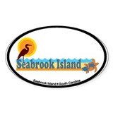 Seabrook Island SC - Beach Design Decal