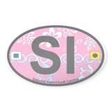Seabrook Island SC - Oval Design Decal