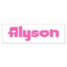 """""""Alyson"""" Bumper Bumper Sticker"""