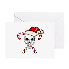 Christmas Skull Greeting Card