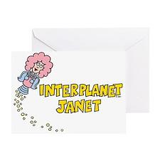 Interplanet Janet Greeting Card