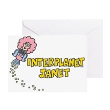 Interplanet Janet Greeting Card