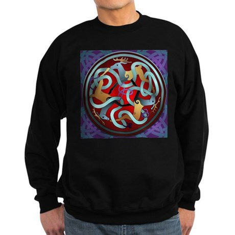 Celtic Deer Sweatshirt (dark)