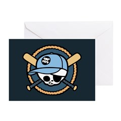 Baseball Pirate -Boy Greeting Cards (Pk of 10)