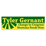Tyler Gernant for Congress bumper sticker