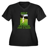 Golf Never Just a Game Women's Plus Size V-Neck Da