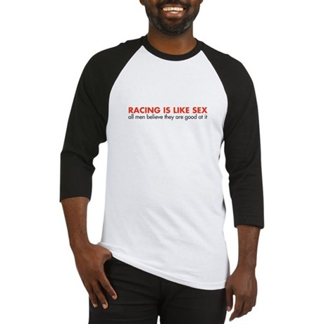 Racing is like sex (men) Baseball Jersey