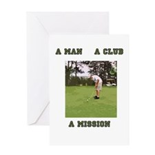 A Man A Club A Mission Greeting Card