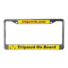 Tripawd License Plate Frame