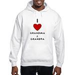 I LOVE GRANDMA AND GRANDPA :) Hooded Sweatshirt
