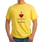 I LOVE GRANDMA AND GRANDPA :) Yellow T-Shirt
