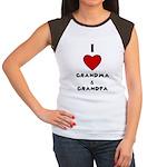 I LOVE GRANDMA AND GRANDPA :) Women's Cap Sleeve T
