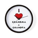 I LOVE GRANDMA AND GRANDPA :) Wall Clock
