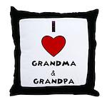 I LOVE GRANDMA AND GRANDPA :) Throw Pillow