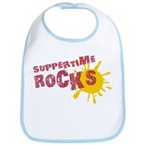 Suppertime Rocks Bib