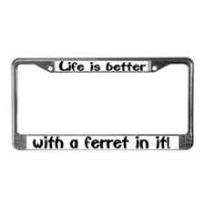 """Ferret"" License Plate Frame"