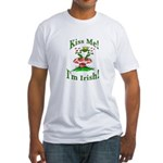 Kiss Me Irish Frog Fitted T-Shirt