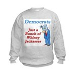 Democrats are Jackasses Kids Sweatshirt