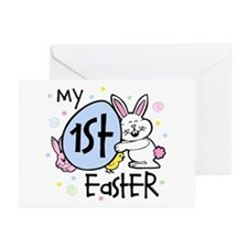 Bunny Chickie 1st Easter Greeting Cards (Pk of 10)