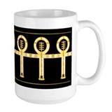 Jewel Gold Ankh Mug