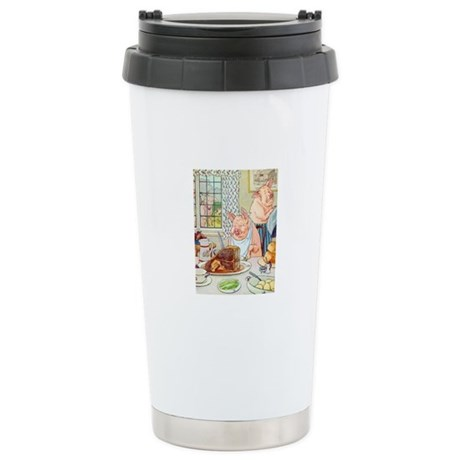 Roast Beef Piggy Ceramic Travel Mug