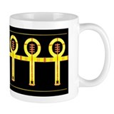 Jewel Yellow Ankh Coffee Mug