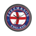English Free Masons Wall Clock