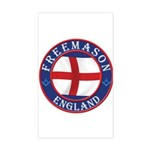 English Free Masons Sticker (Rectangle)