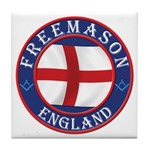 English Free Masons Tile Coaster