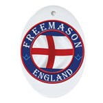 English Free Masons Ornament (Oval)