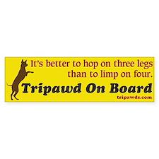 Tripawd Bumper Bumper Sticker