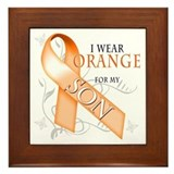 I Wear Orange for my Son Framed Tile