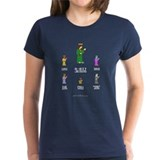 Women's 8-Bit Jesus Crossgamer Dark T