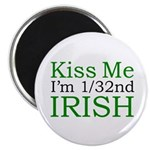 "Kiss Me I'm 1/32nd Irish 2.25"" Magnet (10 pack)"