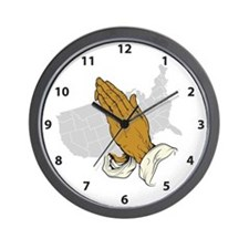 Pray For America Wall Clock