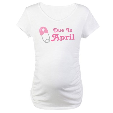 April Baby Diaper Pin Maternity T-Shirt