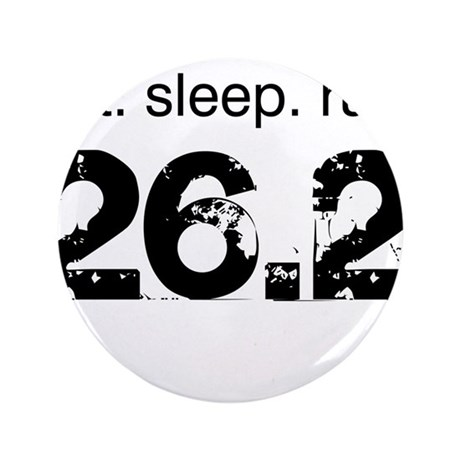 "Eat Sleep Run 26.2 3.5"" Button (100 pack)"