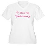 February Baby Diaper Pin Women's Plus Size V-Neck
