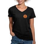 Knitting Champ Women's V-Neck Dark T-Shirt