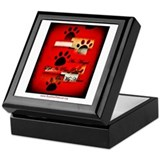 Angel Paw Prints Keepsake Box