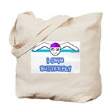 I Swim Butterfly Tote Bag