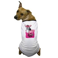 Zebra in A Bag Dog T-Shirt
