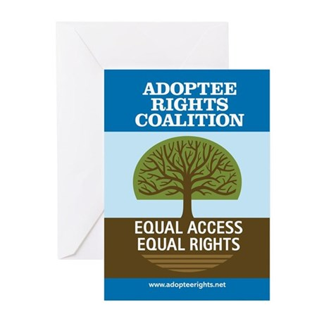 Adoptee Rights Coalition Greeting Cards (Pk of 20)